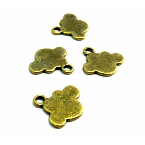 Ps110209725 pax 15 pendentifs nuage métal couleur bronze