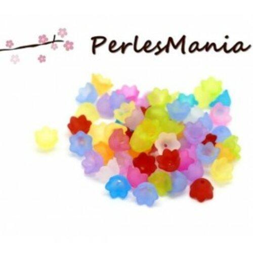 Ps1119756 pax 150 fleurs acrylique multicolores 10 par 7mm