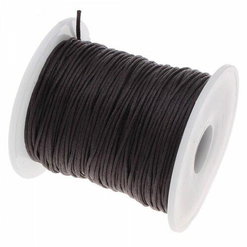 160428090701 pax 1 bobine d'environ 70m de fil en coton ciré 1mm marron foncé no25