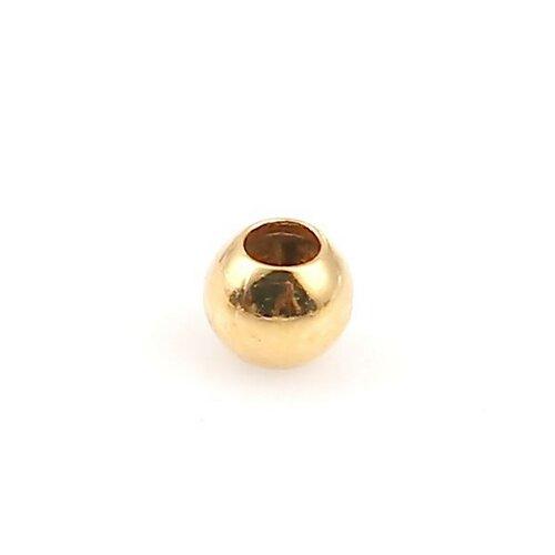Ps1134077 pax 200 perles intercalaires bille 2mm cuivre couleur doré