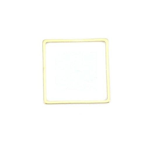 Ps110201171 pax 5 pendentifs connecteurs carre 20 mm doré en acier inoxydable 304 pour bijoux raffinés
