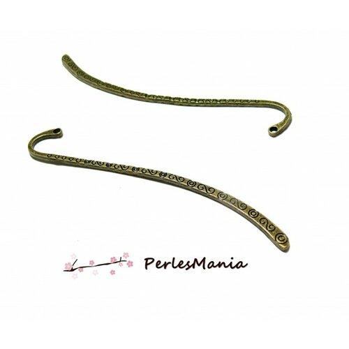 S1113780 pax 10 marques page spirales 85mm métal coloris bronze