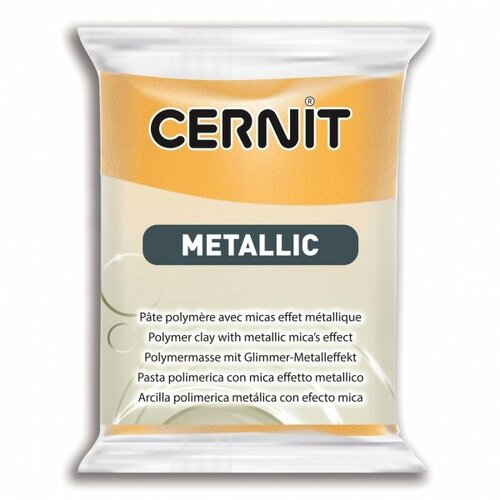 1 pain 56g pate cernit metallic or