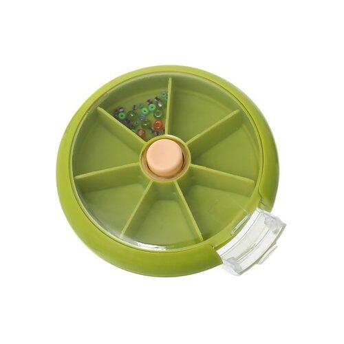 Ps1149654 pax 1 boite ronde box de rangement avec couvercle 7 compartiments avec bouton automatique