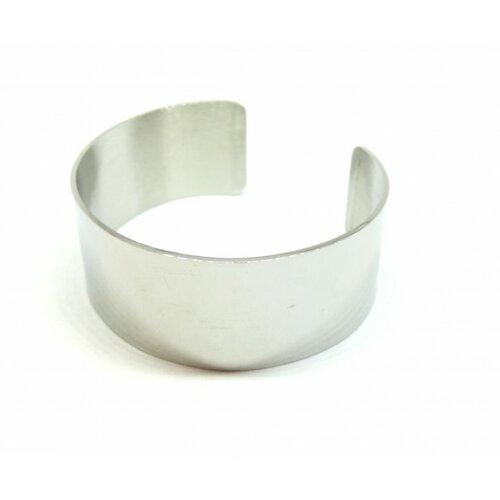 Bu11190704113519 pax: 1 support de bracelet manchette 25mm acier inoxydable 304 coloris argent