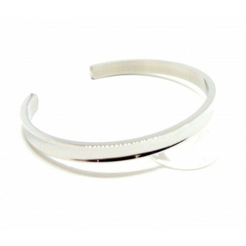 Bu11180410171250 pax: 1 support de bracelet manchette 6mm acier inoxydable 304 coloris argent