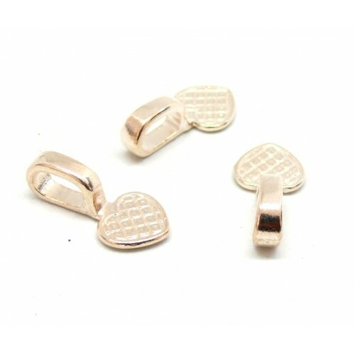 Ps110081063 pax 15 belieres a coller forme coeur 22mm metal, attache pendentif couleur or rose