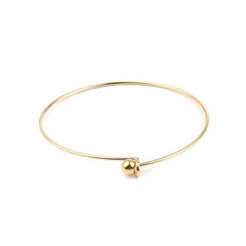 S11661346 pax: 1 support de bracelet jonc avec bille en acier inoxydable 304 coloris doré