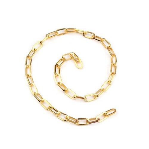 Ps11661733 pax 2 mètres chaine grande maille ovale 10 par 5mm métal couleur doré