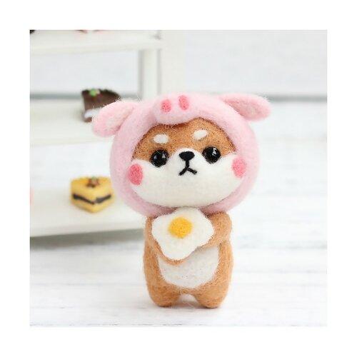 S11671813 kit de feutrage shiba inu diy animal aiguille laine à feutrer