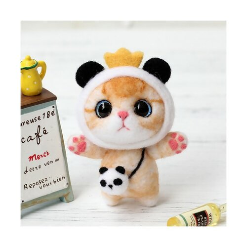 S11671825 kit de feutrage chat japonais kawai 75mm diy animal aiguille laine à feutrer