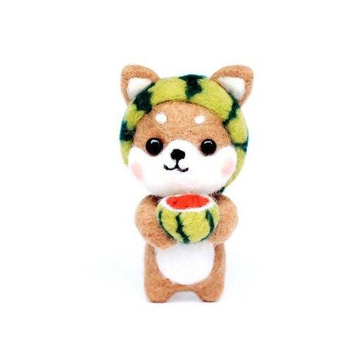 S11671828 kit de feutrage chien japonais kawai chiba inu diy animal aiguille laine à feutrer