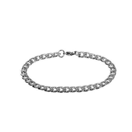 S1184348 pax: 1 support de bracelet gourmette grosse maille acier inoxydable 304 coloris argent