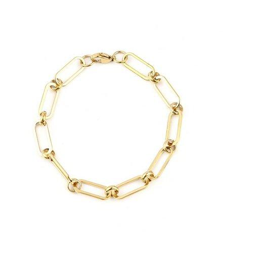 S11694501 pax 1 bracelet 19,2 cm grande maille 16 par 7mm en acier inoxydable 304 coloris doré