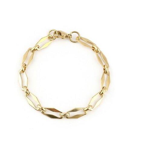 S11694503 pax 1 bracelet 19 cm grande maille 15 par 7mm en acier inoxydable 304 coloris doré
