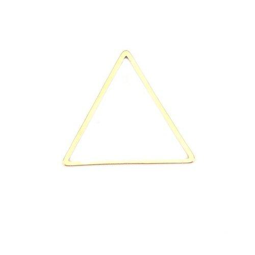 Ps110201191 pax 5 pendentifs connecteurs triangle 23 mm doré en acier inoxydable 304 pour bijoux raffinés