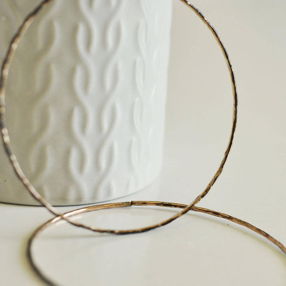 Bracelet jonc semainier laiton brut, fournitures créatives, laiton brut, fabrication bijoux, bracelet, 55mm