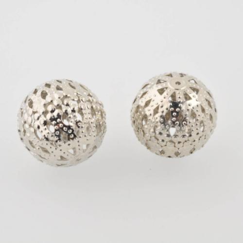 Perle argentée filigrane ronde de 23 mm