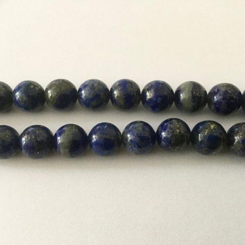 Perles rondes 8mm lapis lazuli x10