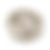 X30 perles  bronze boule ronde 6x5mm (74c)