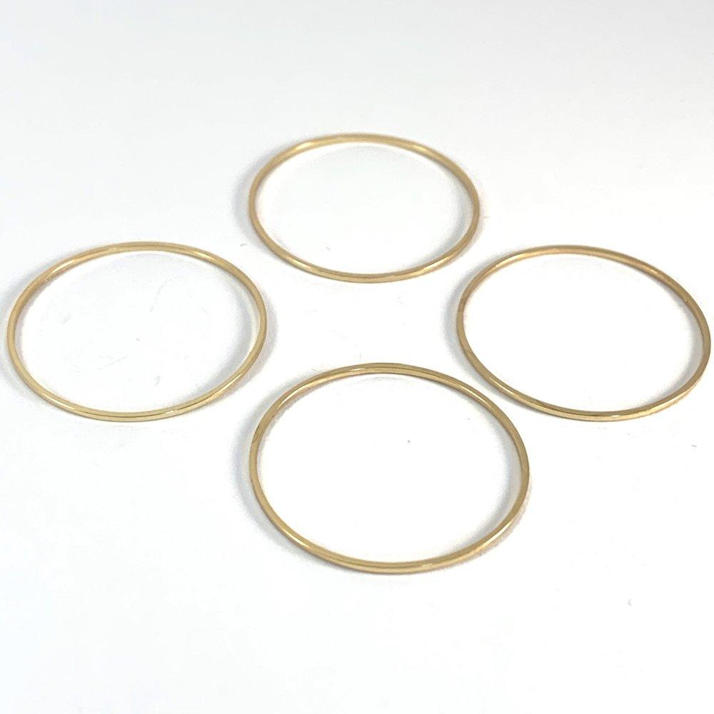 Lot de 4 anneaux dorés