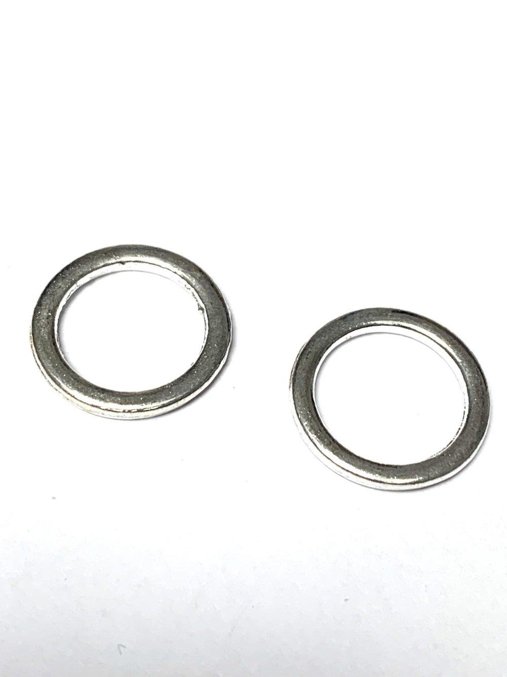 2 anneaux fermés 1,9cm de diamètre