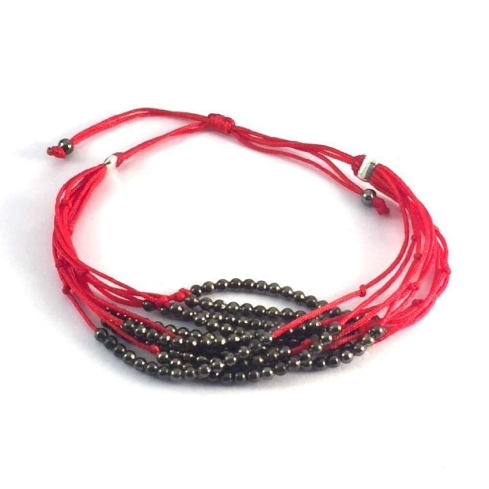 Bracelet multi rangs rouge
