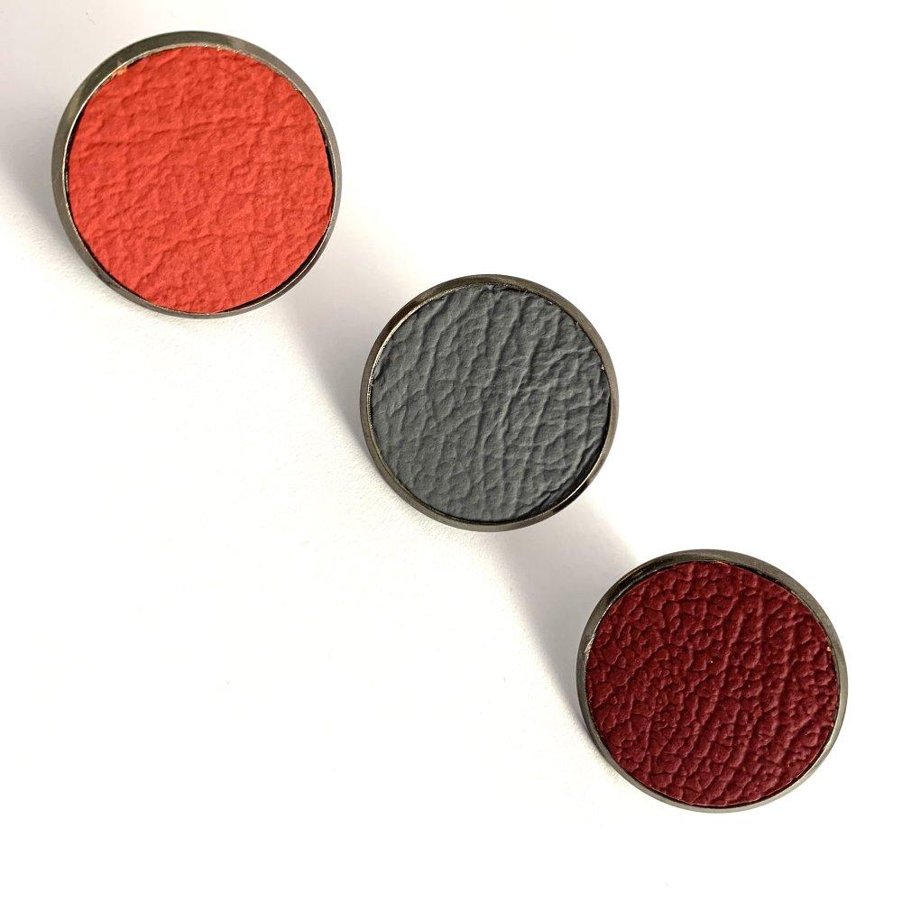 Bague plateau cuir