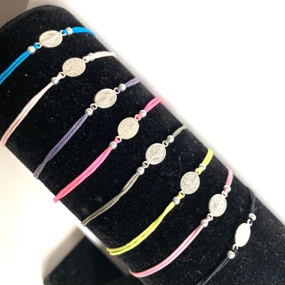 Bracelet 925 et son médaillon vierge 925