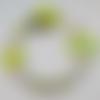 Attache tétine personnalisée - perles en bois - modèle andrea (renard vert)