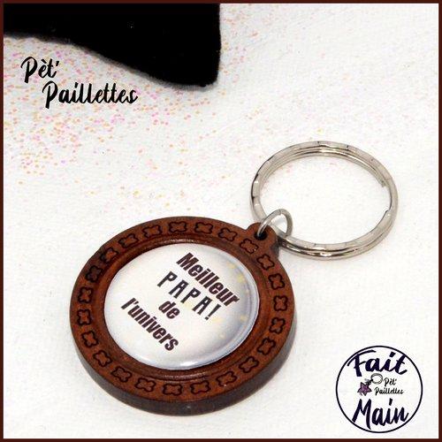 """Porte clés """"meilleur papa de l'univers"""" idée cadeau fête des pères"""