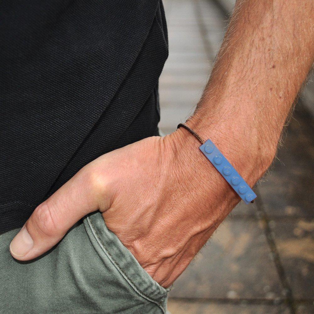Bracelet Adulte Brique Lego Bleu Ciel