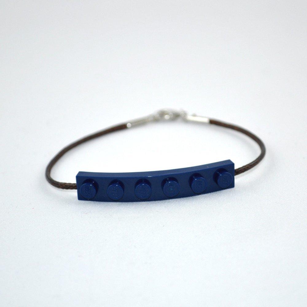 Bracelet Adulte Brique Lego Bleu Nuit