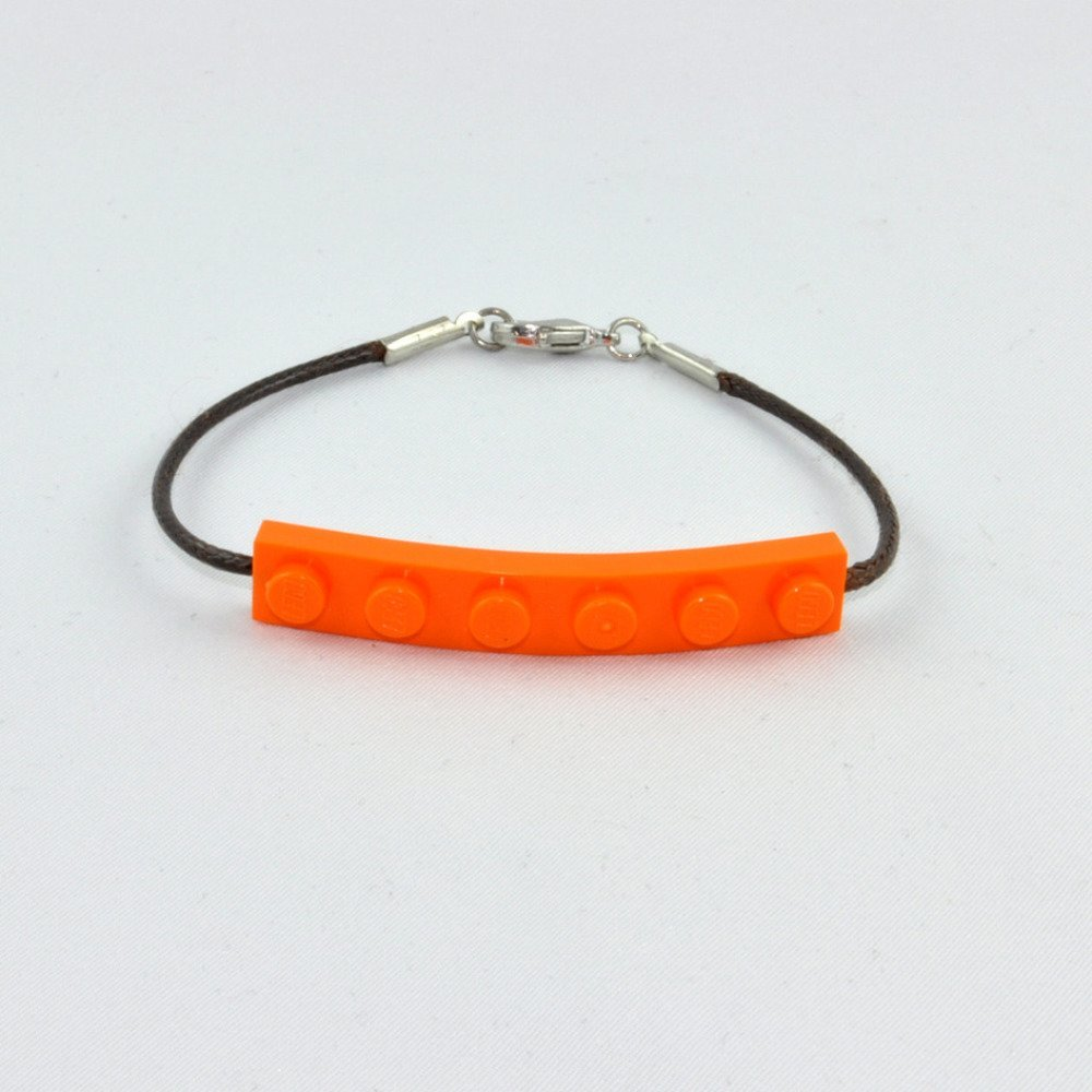 Bracelet Adulte Brique Lego Orange