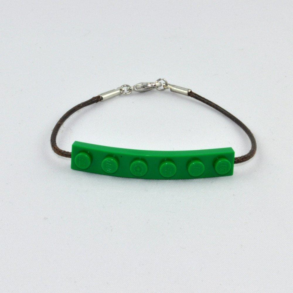 Bracelet Adulte Brique Lego Vert Foncé