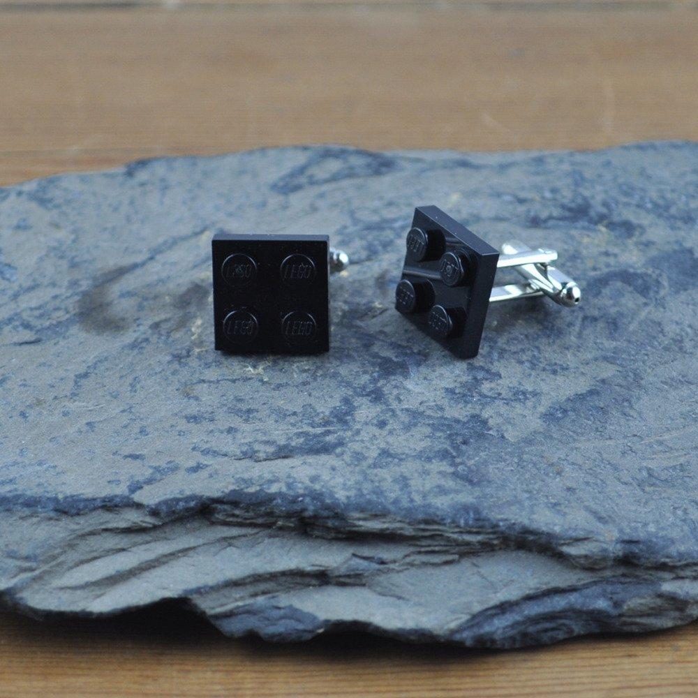 Paire de Boutons de Manchette Brique Lego Noir