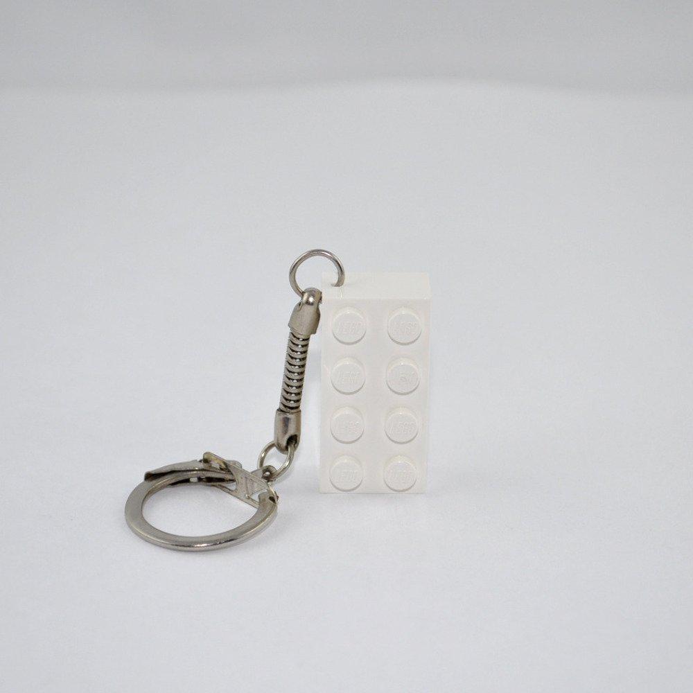 Porte-Clés Brique Lego Blanc