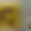 Porte-chéquier jaune ronds