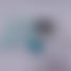 Portefeuille complet / compagnon turquoise tâche
