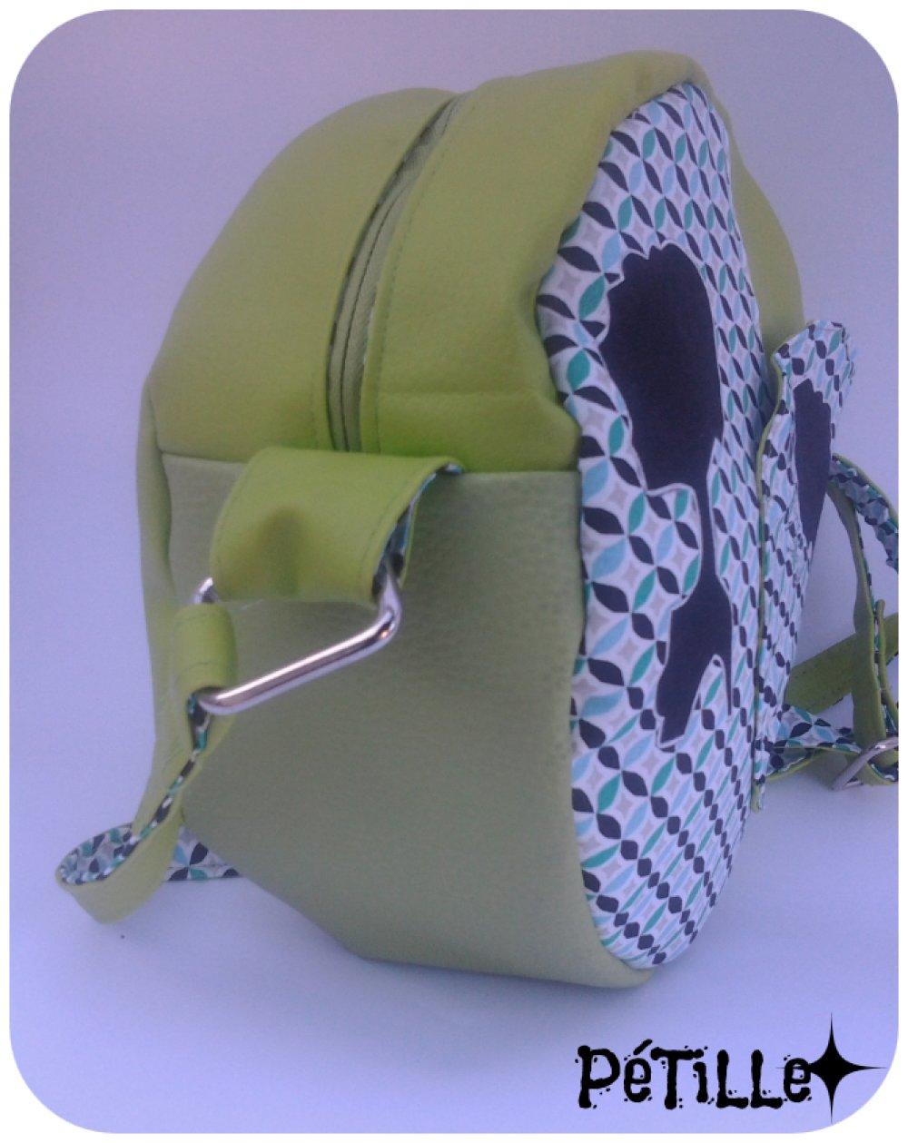 Sac forme ronde vert dessin Africaine