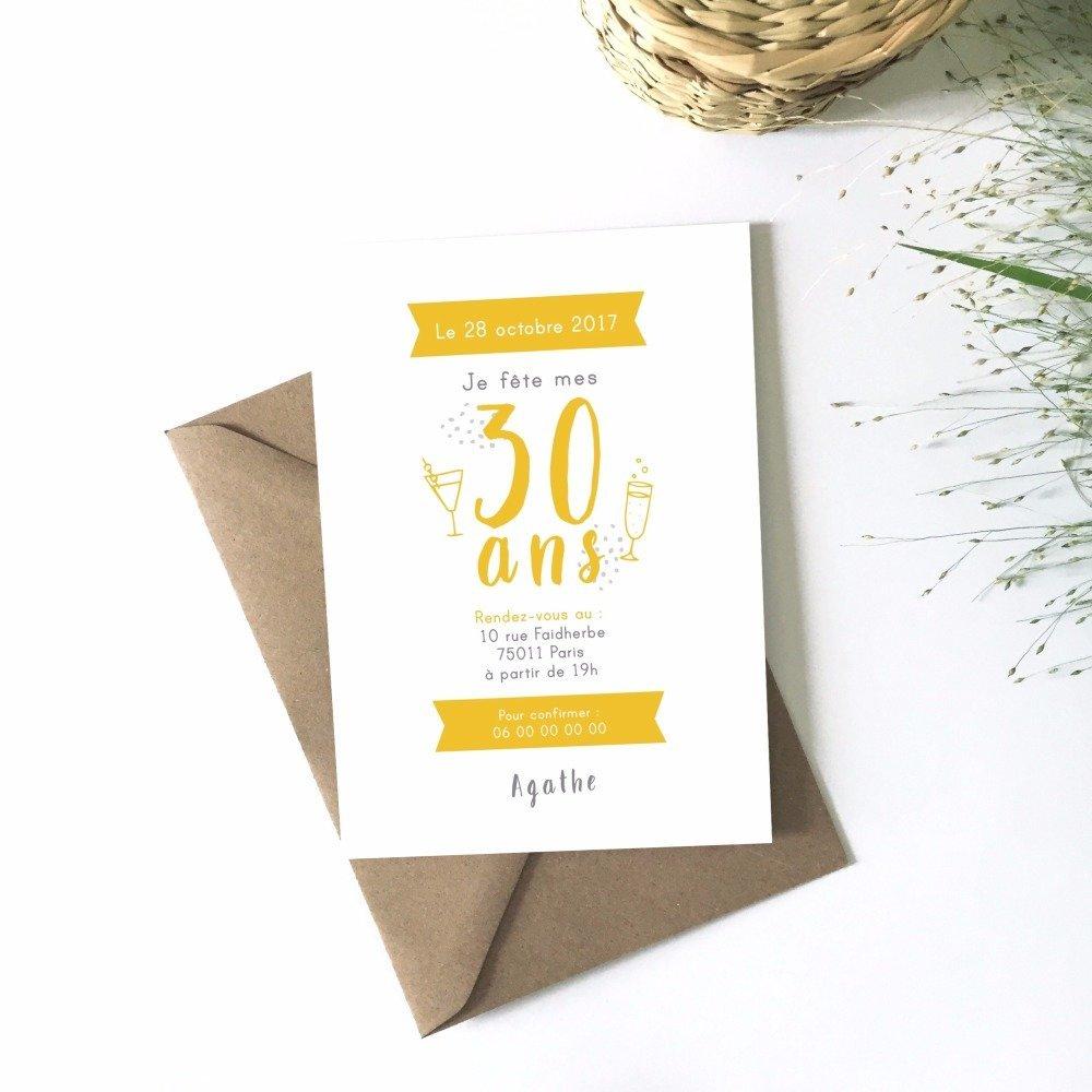 carte d invitation anniversaire adulte
