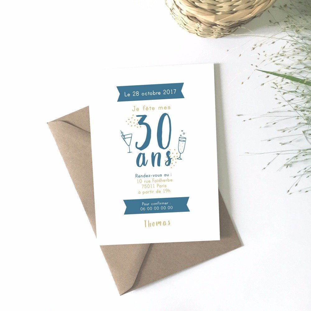 Cartes Invitation Anniversaire Adulte