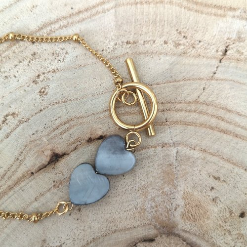 Bracelet nacre coeur