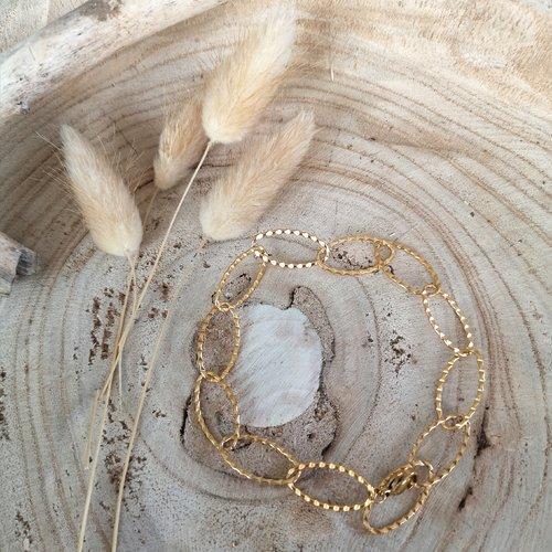 Bracelet grands maillons ovales