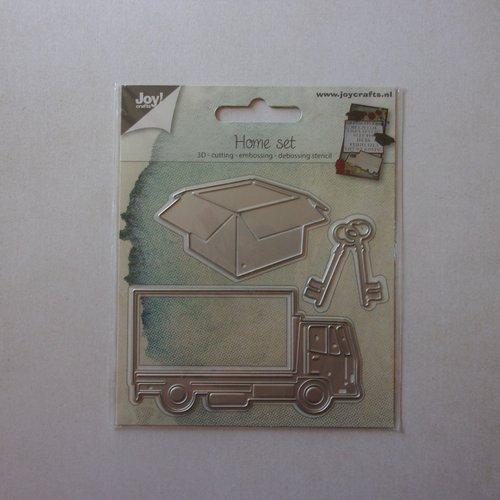 Die cuts découpe matrice en métal joy crafts, scrapbooking camion carton déménagement clé