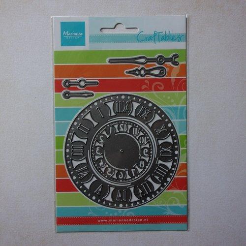Die découpe matrice en métal pochoir métal marianne design craftables, scrapbooking montre horloge vintage