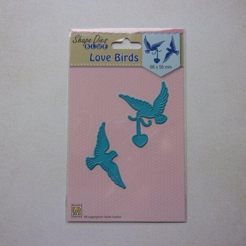 Die de découpe matrice en métal nellie snellen scrapbooking animaux oiseaux colombe cœur