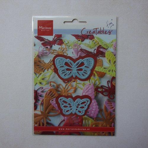 Die découpe matrice en métal pochoir métal marianne design creatables scrapbooking duo papillon insecte