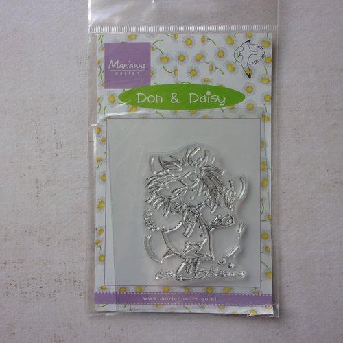 Tampon clear acrylique marianne design décoration scrapbooking don & daisy fille feuilles automne