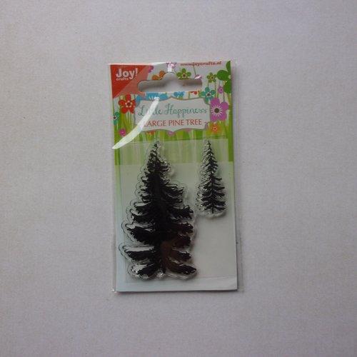 Tampon clear acrylique joy crafts décoration scrapbooking nature forêt arbre sapin noël hiver